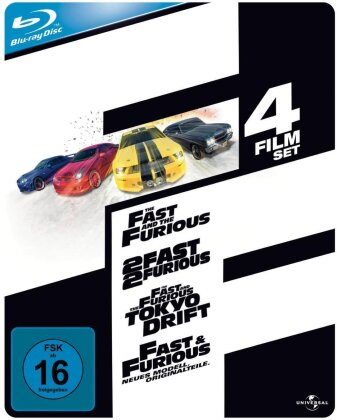 The Fast and the Furious 1-4 (Steelbook, 4 Blu-rays)