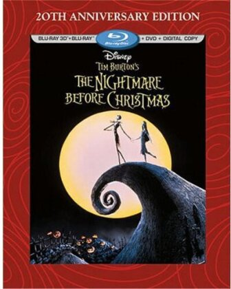 The Nightmare Before Christmas (1993) (20th Anniversary Edition, Blu-ray 3D + Blu-ray + DVD)