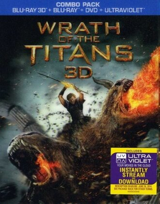 Wrath of the Titans (2012) (Blu-ray 3D (+2D) + Blu-ray + DVD)