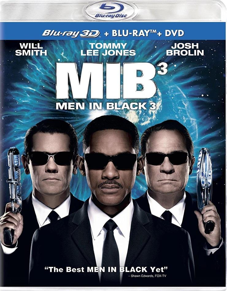 Men in Black 3 (2012) (Blu-ray 3D (+2D) + Blu-ray + DVD)
