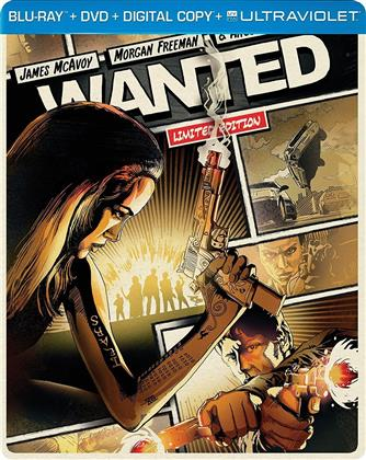 Wanted (2008) (Limited Edition, Steelbook, Blu-ray + DVD)