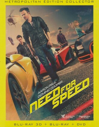 Need for Speed (2014) (Steelbook, Blu-ray 3D (+2D) + DVD)