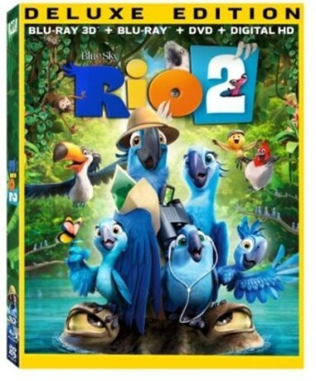 Rio 2 (2014) (Deluxe Edition, Blu-ray 3D + Blu-ray + DVD)