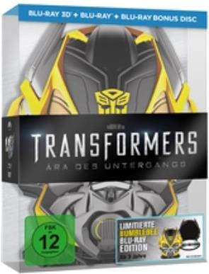 Transformers 4 - Ära des Untergangs (Limitierte Bumblebee Edition - Real 3D + 2D / 3 Discs) (2014) (Limited Edition)