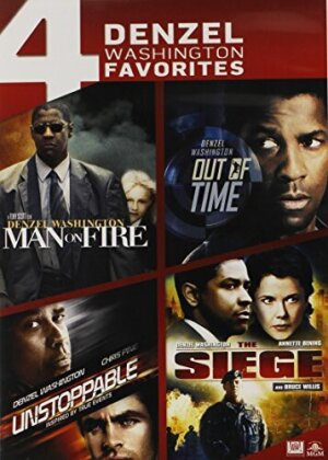 Man On Fire / Out Of Time / Unstoppable / The Siege - 4 Denzel Washington Favorites (4 DVDs)