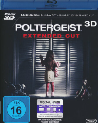 Poltergeist (2015) (Extended Edition, Blu-ray 3D + Blu-ray)