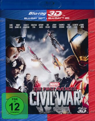 Captain America 3 - The First Avenger - Civil War (2016) (Blu-ray 3D + Blu-ray)