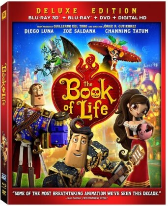 The Book of Life (2014) (Deluxe Edition, Blu-ray 3D + Blu-ray + DVD)