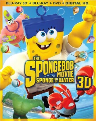 The Spongebob Movie: - Sponge Out of Water (2015) (Blu-ray 3D (+2D) + Blu-ray + DVD)