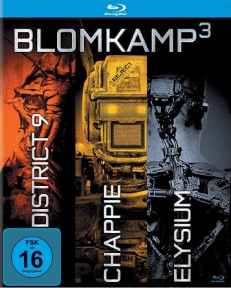 Blomkamp³ - District 9 / Chappie / Elysium (Digibook, Limited Edition, 3 Blu-rays)