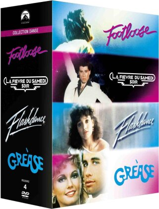 Collection Danse - Footloose / La fièvre du samedi soir / Flashdance / Grease (4 DVDs)