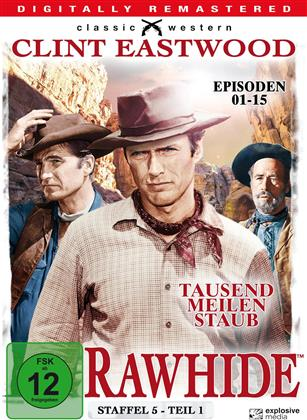 Rawhide - Staffel 5.1 (Classic Western, Remastered, b/w, 4 DVDs)