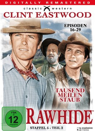 Rawhide - Staffel 5.2 (Classic Western, Remastered, b/w, 4 DVDs)