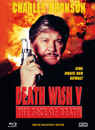 Death Wish 5 - The face of death (1994) (Cover C, Limited Collector's Edition, Mediabook, Blu-ray + DVD)