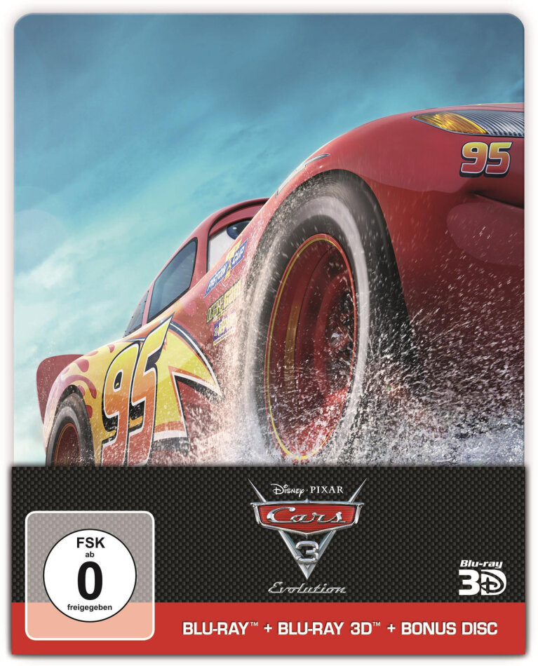 Cars 3 - Evolution (2017) (Limited Edition, Steelbook, Blu-ray 3D + 2 Blu-rays)
