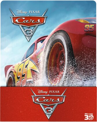 Cars 3 (2017) (Limited Edition, Steelbook, Blu-ray 3D + 2 Blu-rays)