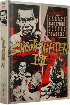 Shootfighter 1 + 2 (T-Shirt Grösse XXL, Limited Edition, Uncut, Mediabook, 2 Blu-rays + 2 DVDs)