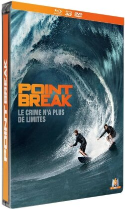 Point Break (2015) (Limited Edition, Steelbook, Blu-ray 3D + Blu-ray + DVD)