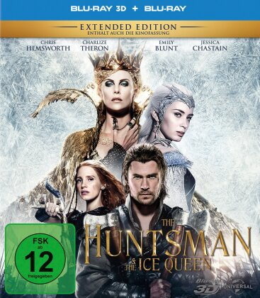 The Huntsman & The Ice Queen (2016) (Extended Edition, Kinoversion, Blu-ray 3D + Blu-ray)