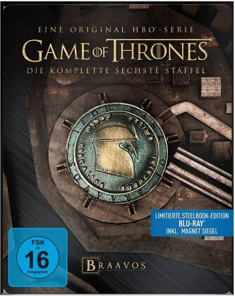 Game of Thrones - Staffel 6 (inkl. Magnet Siegel, Limited Edition, Steelbook, 4 Blu-rays)