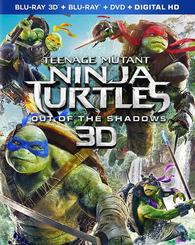 Teenage Mutant Ninja Turtles - Out of the Shadows (2016) (Blu-ray 3D + Blu-ray + DVD)
