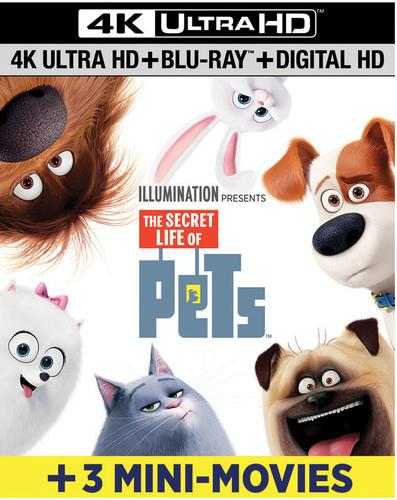 The Secret Life of Pets (2016) (including 3 Mini Movies, 4K Ultra HD + Blu-ray)