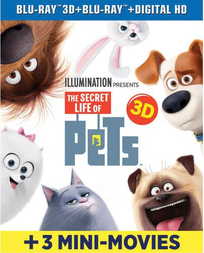 The Secret Life of Pets (2016) (including 3 Mini Movies, Blu-ray 3D + Blu-ray)