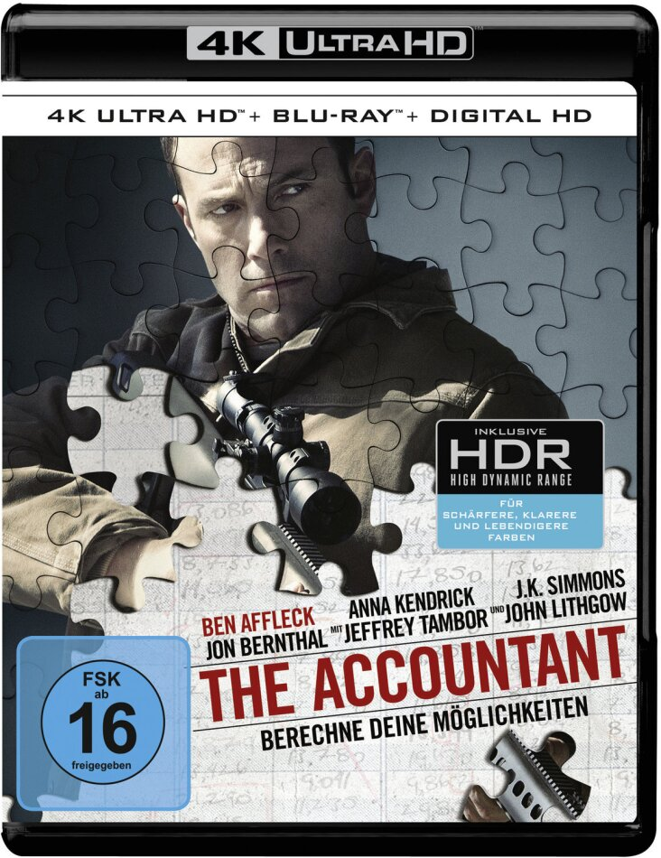 The Accountant (2016) (4K Ultra HD + Blu-ray)