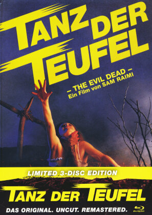 Tanz der Teufel (1981) (Cover A, Limited Edition, Mediabook, Remastered, Uncut, 3 Blu-rays)