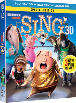 Sing (2016) - Sing (2016) (2PC) / (Wbr Spec) (2016) (Special Edition, Blu-ray + Blu-ray 3D)