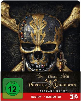 Pirates of the Caribbean 5 - Salazars Rache (2017) (Limited Edition, Steelbook, Blu-ray 3D + Blu-ray)