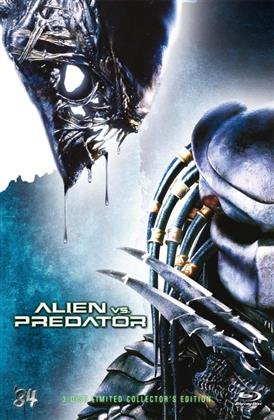 Alien vs. Predator (2004) (Grosse Hartbox, Cover A, Collector's Edition, Extended Edition, Limited Edition, Uncut, Blu-ray + 2 DVDs)