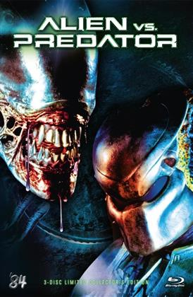 Alien vs. Predator (2004) (Cover D, Grosse Hartbox, Collector's Edition, Extended Edition, Limited Edition, Uncut, Blu-ray + 2 DVDs)