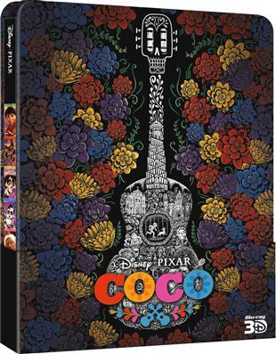 Coco - Lebendiger als das Leben! 3D (2017) (Limited Edition, Steelbook, Blu-ray 3D + 2 Blu-rays)