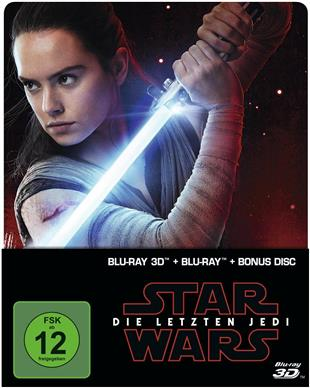Star Wars - Episode 8 3D (2017) Die letzten Jedi (Limited Edition, Steelbook, Blu-ray 3D + 2 Blu-rays)