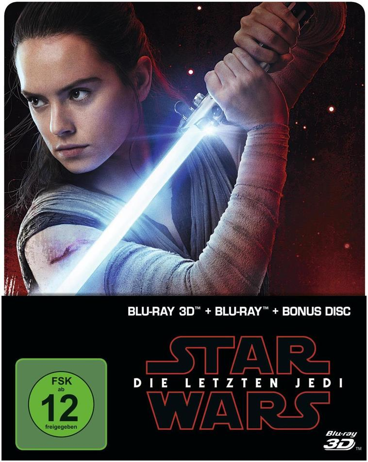 Star Wars - Episode 8 - Die letzten Jedi (2017) (Limited Edition, Steelbook, Blu-ray 3D + 2 Blu-rays)
