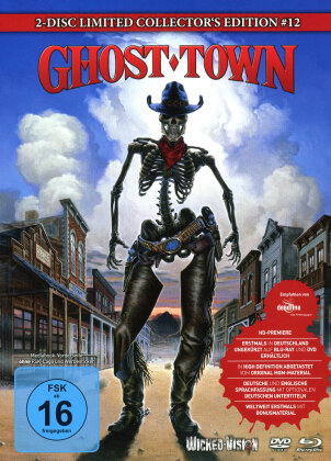 Ghost Town (1988) (Cover B, Collector's Edition, Limited Edition, Mediabook, Uncut, Blu-ray + DVD)