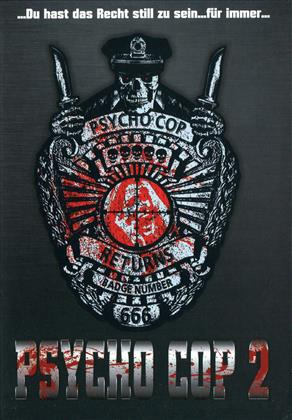 Psycho Cop 2 (1993) (Cover C, Limited Edition, Mediabook, Uncut, Blu-ray + DVD)