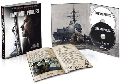 Capitaine Phillips (2013) (Limited Edition, Mediabook, Uncut, Blu-ray + DVD)