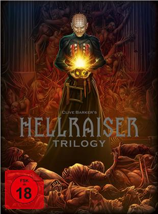 Hellraiser Trilogy (Digipack, Deluxe Edition, Limited Edition, Uncut, 4 Blu-rays + DVD + Buch)