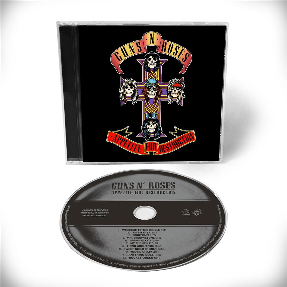Guns N' Roses - Appetite For Destruction (Standard Edition, 2018 Reissue, Remastered)