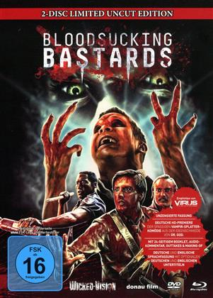 Bloodsucking Bastards (2015) (Cover C, Limited Edition, Mediabook, Uncut, Blu-ray + DVD)