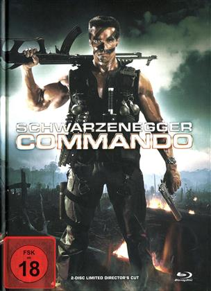 Commando (1985) (Cover B, Director's Cut, Limited Edition, Mediabook, Uncut, Blu-ray + DVD)