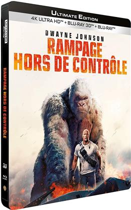 Rampage - Hors de contrôle (2018) (Limited Edition, Steelbook, Ultimate Edition, 4K Ultra HD + Blu-ray 3D + Blu-ray)