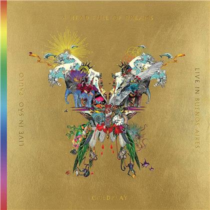 Coldplay - Live In Buenos Aires/Live In Sao Paulo/A Head Full Of Dreams (Film) (Butterfly Package, 3 LPs + 2 DVDs)