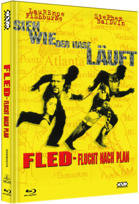 Fled - Flucht nach Plan (1996) (Cover A, Limited Edition, Mediabook, Blu-ray + DVD)