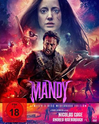Mandy (2018) (Cover B, Limited Edition, Mediabook, Blu-ray + 2 DVDs)