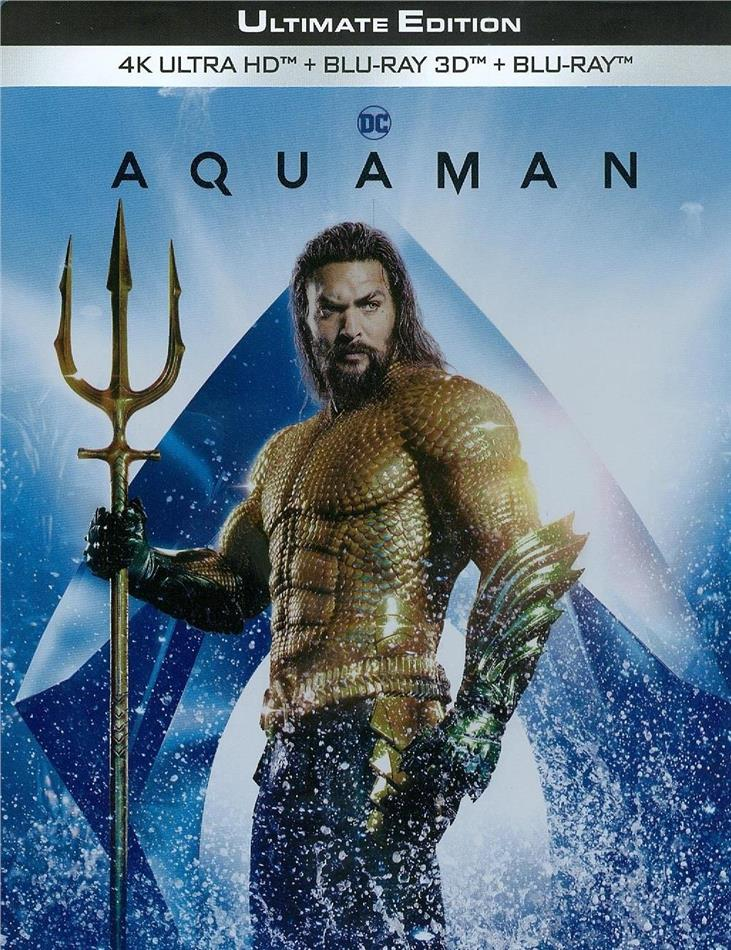Aquaman (2018) (Limited Edition, Steelbook, Ultimate Edition, 4K Ultra HD + Blu-ray 3D + Blu-ray)