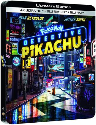 Detective Pikachu - Pokémon (2019) (Limited Edition, Steelbook, 4K Ultra HD + Blu-ray 3D + Blu-ray)