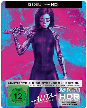 Alita: Battle Angel (2018) (Collector's Edition, Limited Edition, Steelbook, 4K Ultra HD + Blu-ray 3D + 2 Blu-rays)